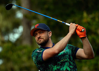 Justin Timberlake participated in the American Century Celebrity Pro-Am in Lake Tahoe over the weekend and one spectator got a little too handsy with Timberlake as he made his way through the gallery.