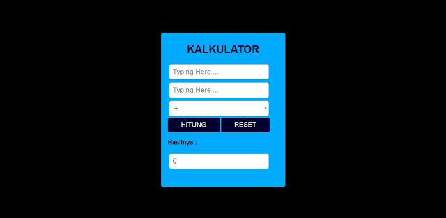 Cara Membuat Kalkulator Sederhana Menggunakan PHP