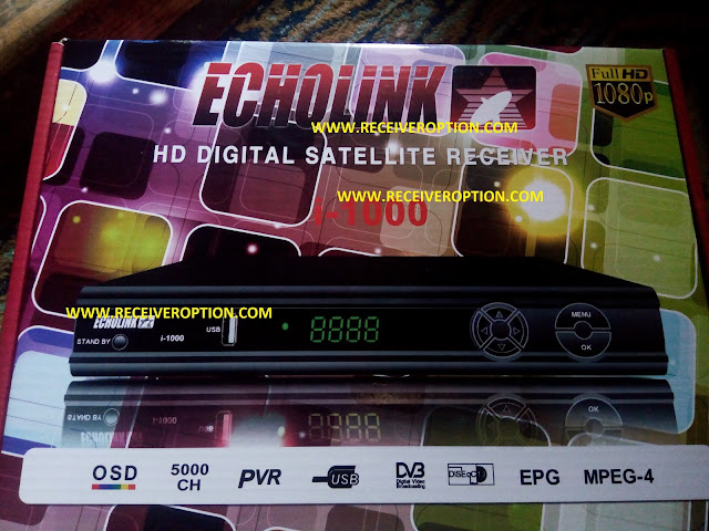 ECHOLINK I-1000 HD RECEIVER POWERVU KEY SOFTWARE
