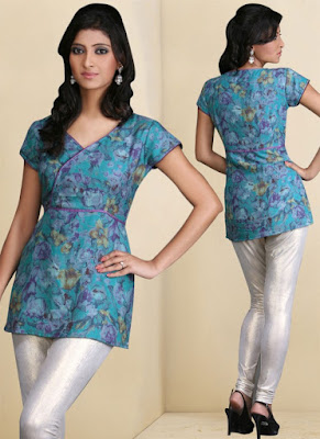 Latest-indian-summer-kurti-designs-with-lace-for-women-10