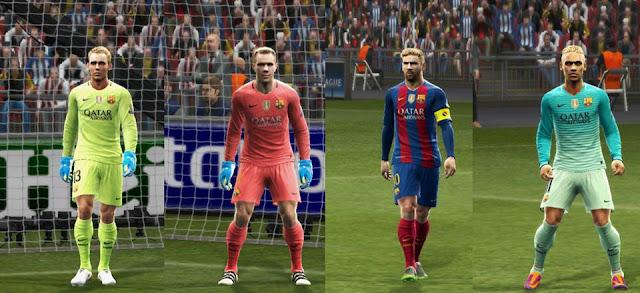 PES 2013 FC Barcelona 2016/17 GDB Update v3 by Strex Kitmaker