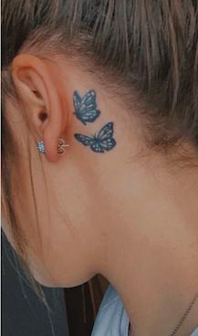 Butterfly Tattoo ideas back side Ear
