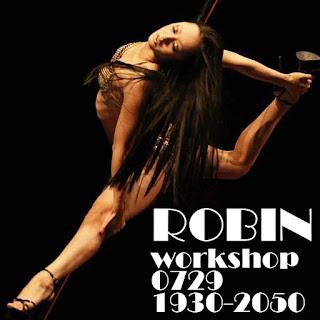 京都ポールダンススタジオからROBIN先生のワークショップをアリッシュポールダンスで開催