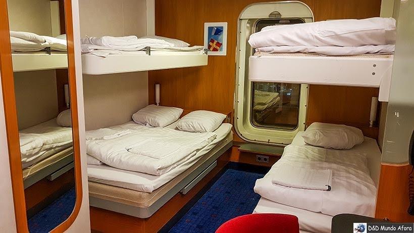 Cabine do navio da Stena LIne em Londres - Cruzeiros marítimos: tudo sobre viagem de navio