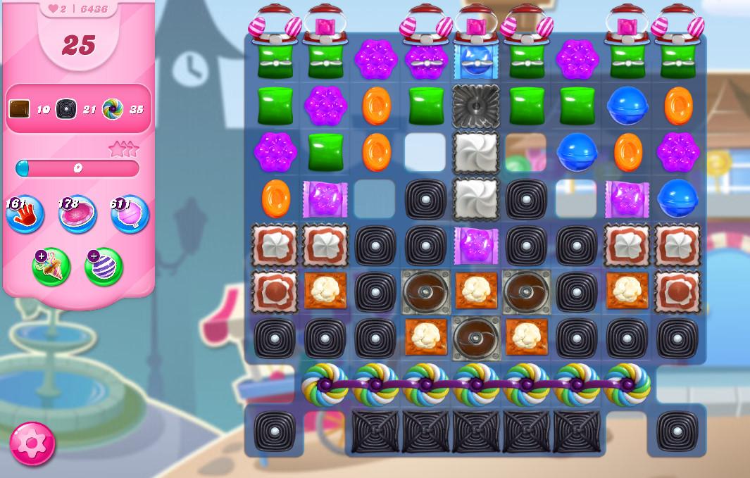 Candy Crush Saga level 6436