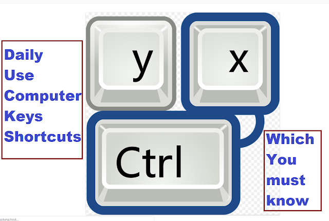 Daily Use Shortcuts Keys of Computer