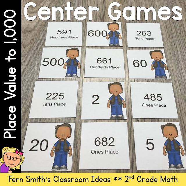 2nd Grade Go Math 2.5 Place Value To 1,000 Center Games #FernSmithsClassroomIdeass