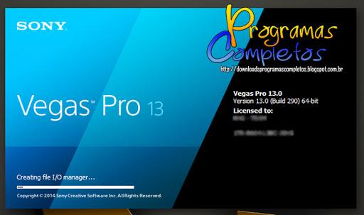 Sony Vegas Pro 13.0 Build 543 64 Bits já Ativado download completo abelhas.pt nitroflare zippyshare rapidgator vip-file letitbit
