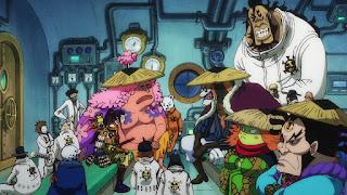ワンピースアニメ 987話 ワノ国編   ONE PIECE 赤鞘 トラファルガーロー ハートの海賊団