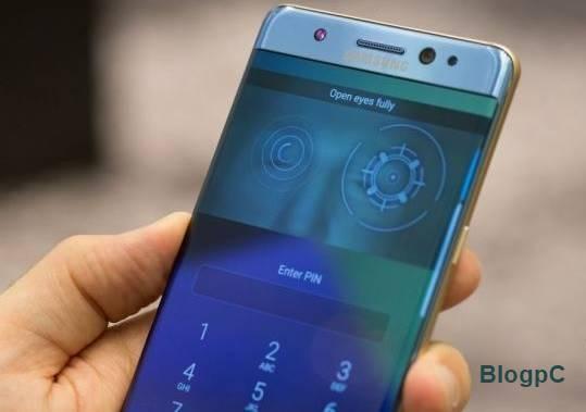 Samsung diz que o scanner de íris é mais seguro do que um scanner de impressão digital