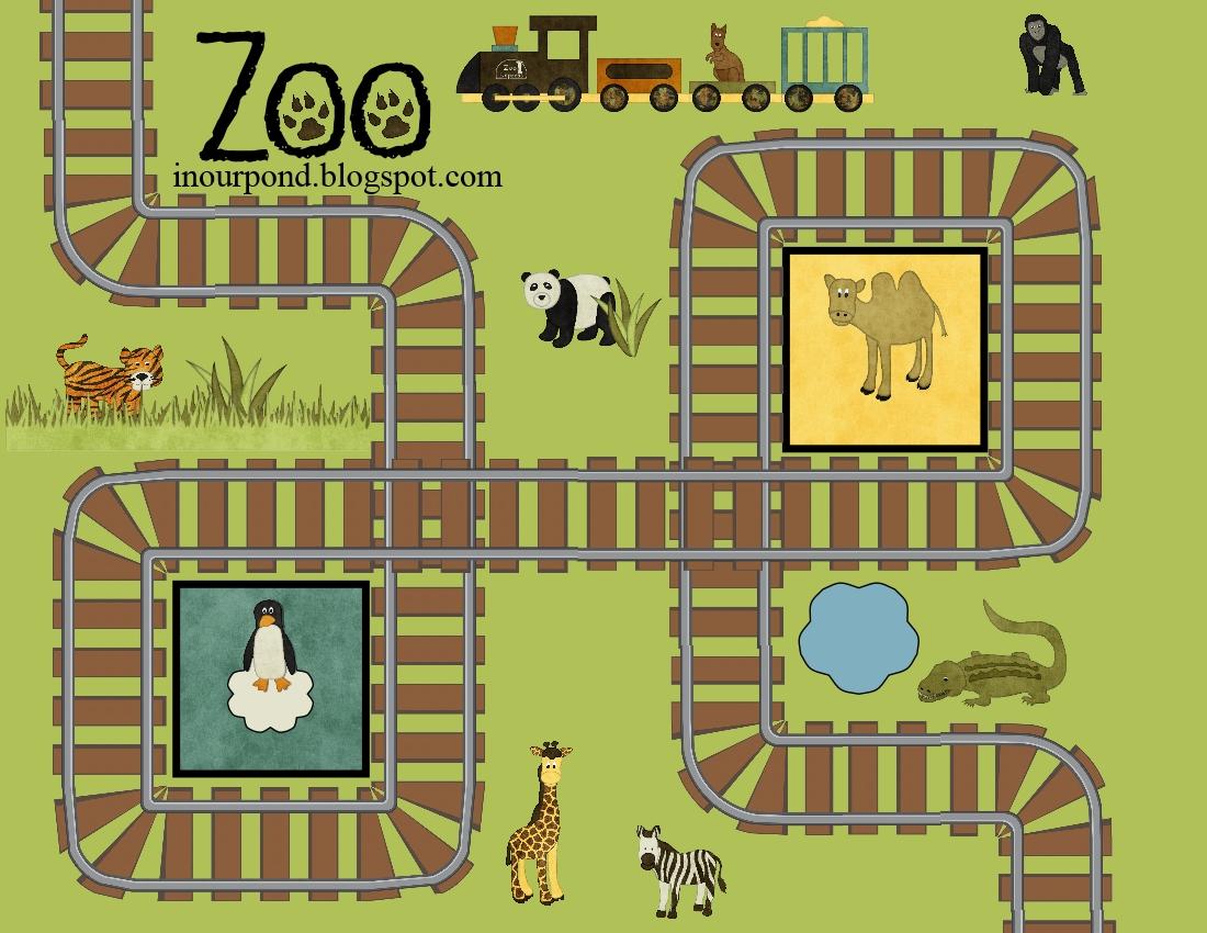 Zoo Train Printable Play Mat