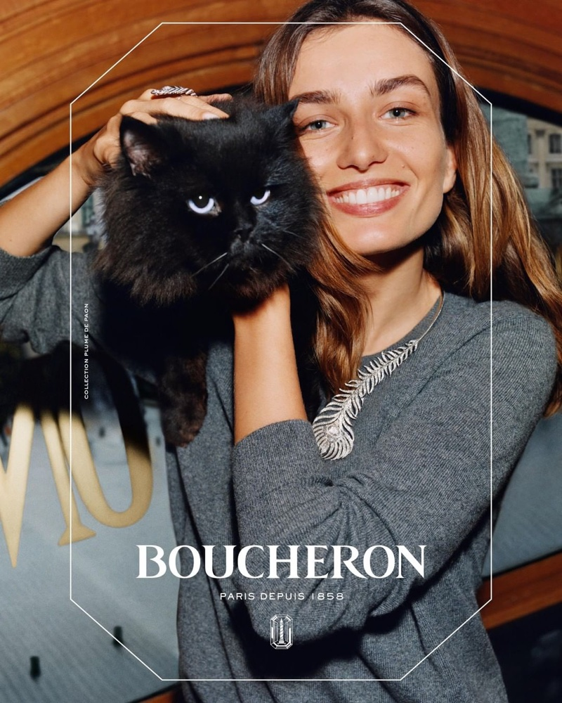 Boucheron taps the Romanian model for its new campaign
