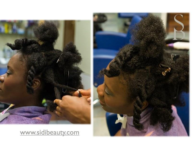 seccionando en twist pelo afro