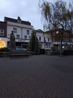 Christmas tree in Newport on the Isle of Wight by Dan Paynton