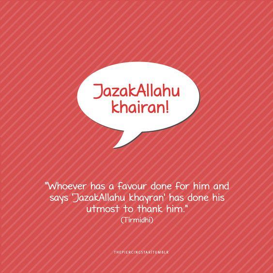 APAKAH MAKSUD JAZAKALLAHU KHAIRAN? APAKAH IANYA UCAPAN TERIMA KASIH?