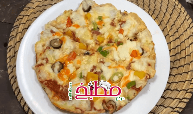 بيتزا الطاسة فاطمه ابو حاتي