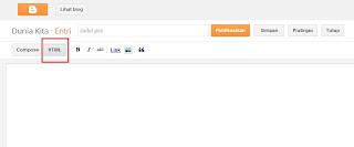 HTML postingan blog