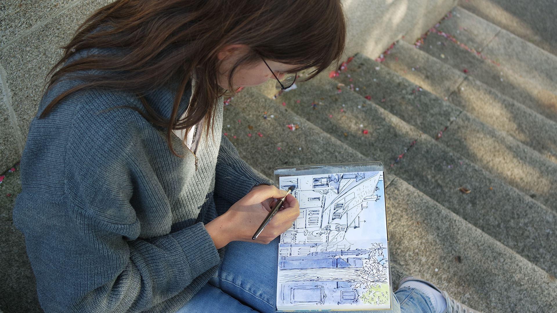outdoor sketching