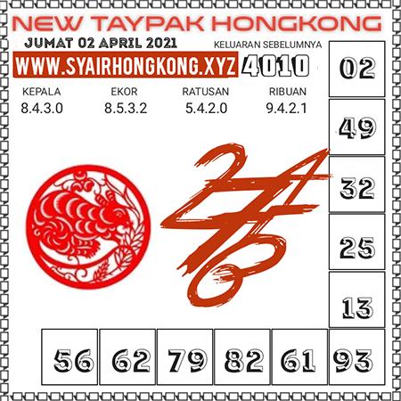 Prediksi New Taypak Hongkong Jumat 02 April 2021