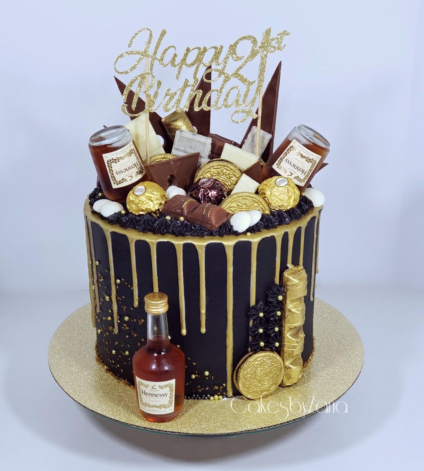 Outstanding Cakesbyzana 21St Birthday Drip Cake Funny Birthday Cards Online Alyptdamsfinfo