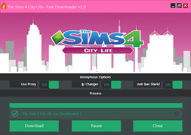 the sims 4 city life fast downloader v1 0