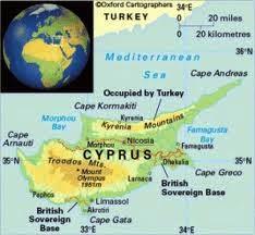 Peta Negara Siprus