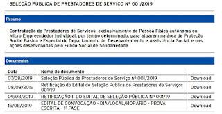 Prova escrita da seleção pública de prestadores de serviço acontece neste domingo, 18 de agosto