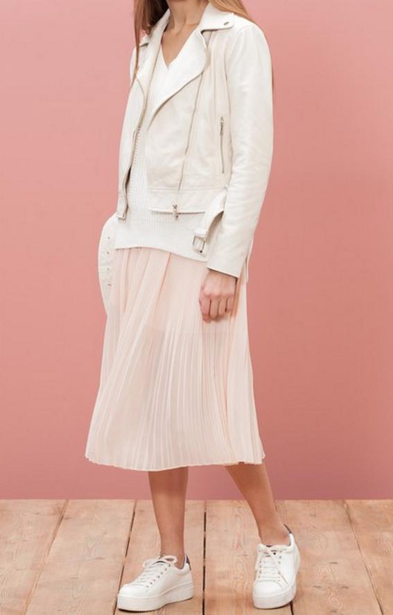 falda plisada rosa pano f56ed45e4ae4