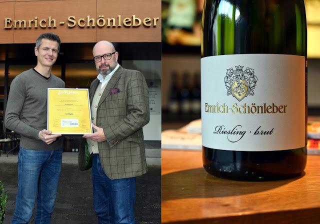 Beim Deutschen Sektpreis des Magazin Vinum sicherte sich der  Riesling brut aus dem Weingut Emrich-Schönleber einen ersten Platz.
