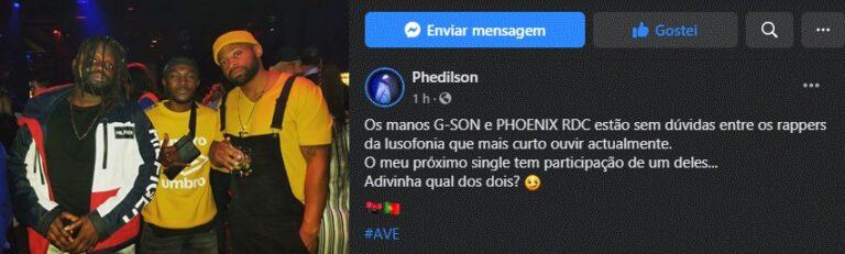 Phedilson revela admiração que sente por G-Son e Phoenix RDC