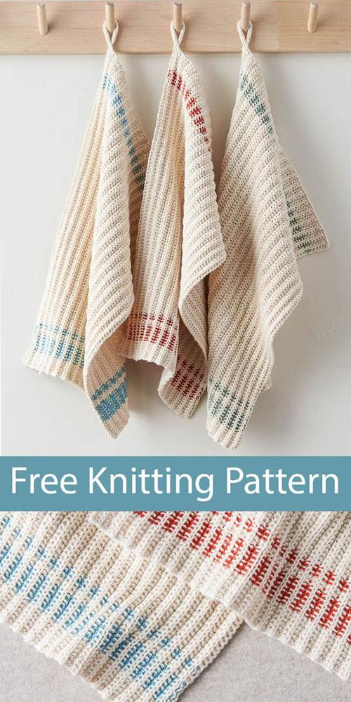 Farmhouse Dishtowels - Free Knitting Pattern