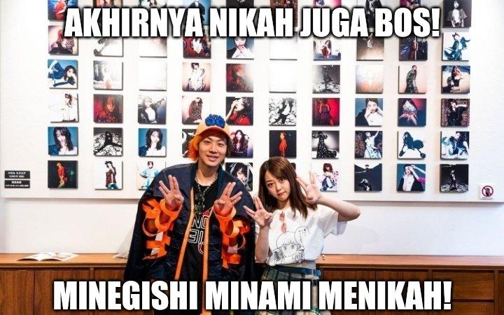 akb48 minegishi minami menikah tetsuya