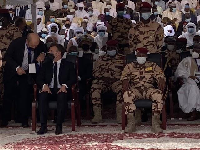Obsèques d'Idriss Déby : « Idriss vous étiez un chef  exemplaire et un guerrier courageux», dixit Emmanuel Macron