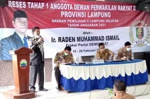 Wakil Ketua III DPRD Lampung Sosialisasikan Perda Nomor 3 Tahun 2020
