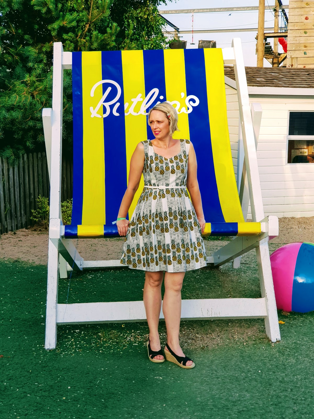 Pineapple Dress: Fun Prints Over 40 Style.