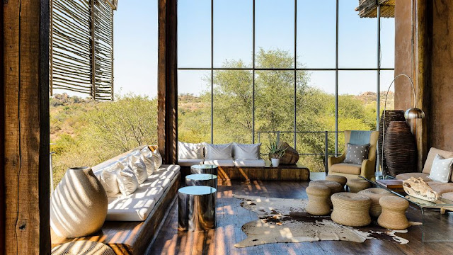 rustic relaxation with an outdoor view