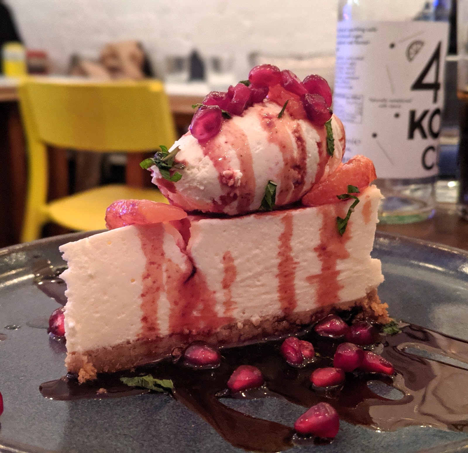 10 Reasons to Visit Harissa Kitchen, Newcastle  - orange cheesecake