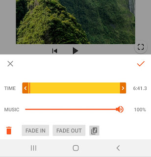 Trim music, adjust volume and apply effects