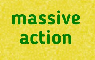 Массивное действие может создать только целеустремленый человек.