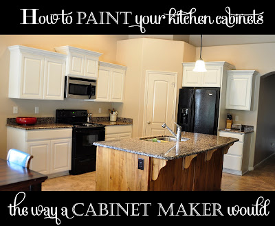 Spectacular How to paint your kitchen cabinets professionally All Things Thrifty