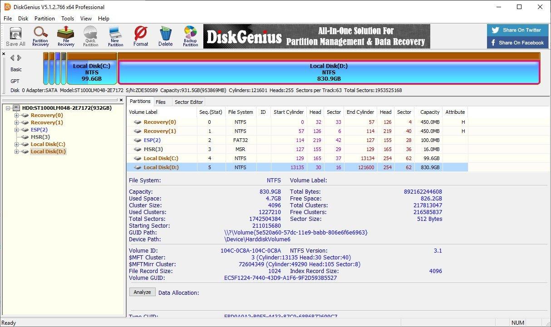 تحميل برنامج DiskGenius Professional 5.2.0.884 النسخة الكاملة
