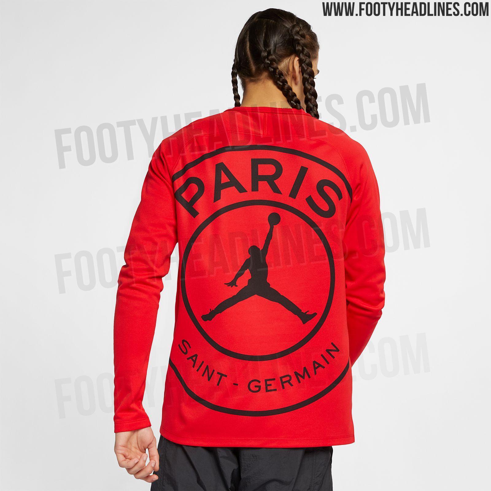 new product 2c9cb 2c9e1 New Red/Black Jordan PSG 2019 Squad Top Leaked | Futbolgrid