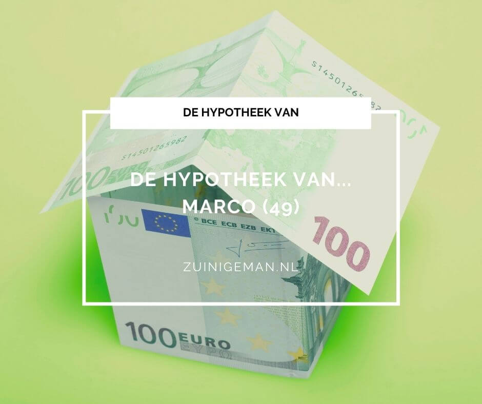 De hypotheek van Marco (49) maandelijks 124 euro bruto per maand