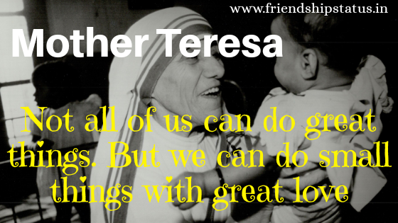 Best 20 Mother Teresa Quotes on Charity To Serve People