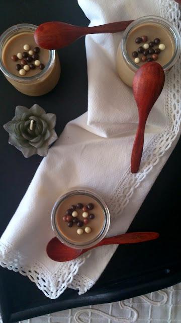 Crema vasitos cappuccino capuchino soja caramelo