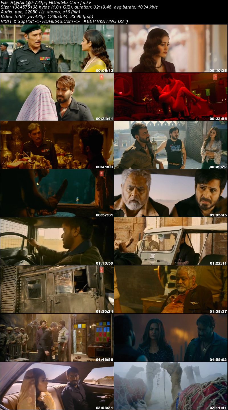 Baadshaho 2017 Hindi Movie 480p DVDRip 390MB Download