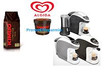 Logo Con Algida e Kimbo vinci  92 Macchine Caffè Kimbo Uno Capsule System