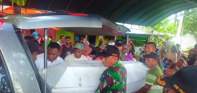 Empati Satgas Yonif Raider 509 Kostrad Bantu Pemakaman Warga Arso