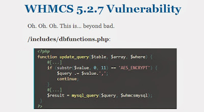 Web Hosting software WHMCS vulnerable to SQL Injection