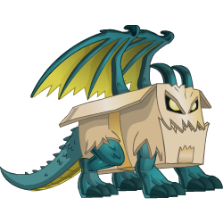 Appearance of Box Dragon when teenager